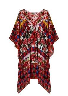 Dolce & Gabbana Carretto-print silk crepe de Chine kaftan