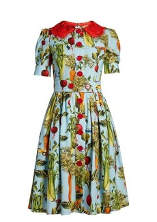 Dolce & Gabbana Carrot and car-print round-neck dress