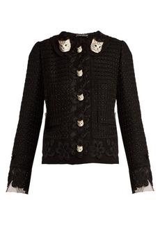 Dolce & Gabbana Cat-button wool-blend tweed jacket