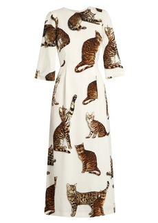 Dolce & Gabbana Cat-print midi dress