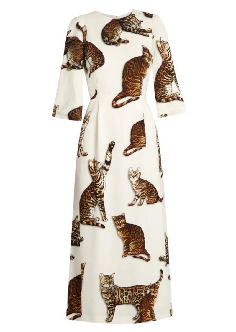 Dolce & Gabbana Cat-print midi dress