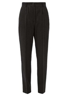Dolce & Gabbana Chalk-stripe slim-fit wool-blend trousers
