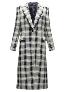 Dolce & Gabbana Checked single-breasted wool-blend coat