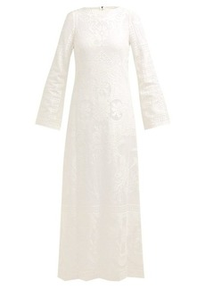 Dolce & Gabbana Cherub and floral-lace cotton-blend maxi dress