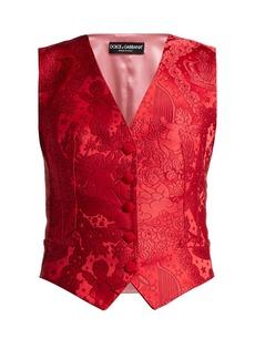 Dolce & Gabbana Cherub-jacquard waistcoat