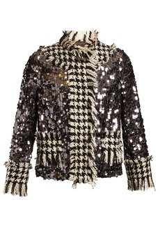 Dolce & Gabbana Contrast-panel sequin-embellished jacket