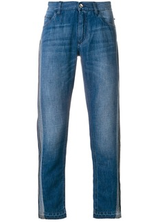 Dolce & Gabbana contrast side panel straight jeans - Blue