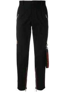 Dolce & Gabbana contrast side panel trousers - Black