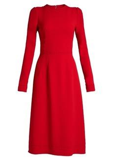 Dolce & Gabbana Contrast-stitch cady dress