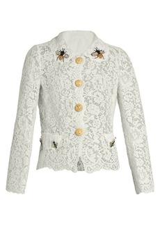 Dolce & Gabbana Cordonetto-lace embellished lace jacket