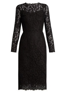 Dolce & Gabbana Cordonetto-lace fitted dress