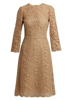 Dolce & Gabbana Cordonetto-lace midi dress