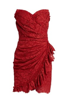 Dolce & Gabbana Cordonetto-lace strapless dress