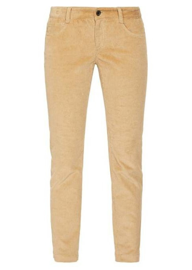 Dolce & Gabbana Cotton-blend corduroy trousers