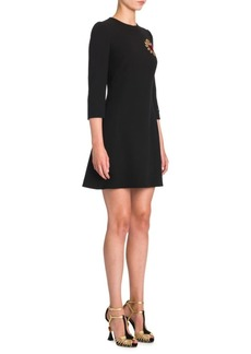 Dolce & Gabbana Crepe Heart Applique Dress