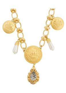 Dolce & Gabbana Crest-embossed necklace