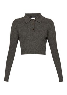Dolce & Gabbana Cropped cashmere polo shirt