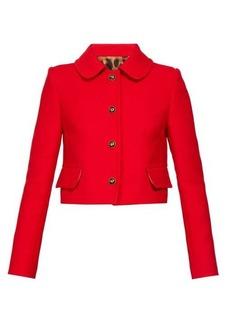 Dolce & Gabbana Cropped Peter Pan-collar crepe jacket