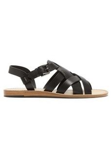 Dolce & Gabbana Cross-strap leather sandals