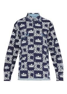 Dolce & Gabbana Crown logo-print denim shirt