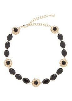 Dolce & Gabbana Crystal and faux pearl choker necklace