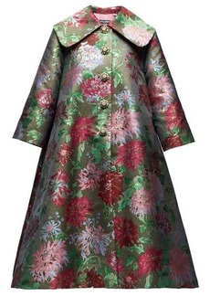 Dolce & Gabbana Crystal-appliqué metallic-brocade opera coat