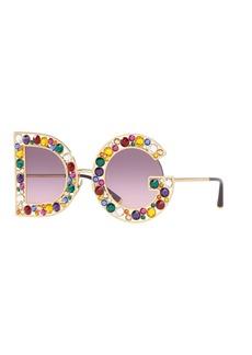 Dolce & Gabbana Crystal D&G Gradient Sunglasses
