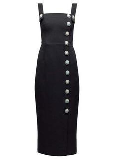Dolce & Gabbana Crystal-embellished buttoned dress