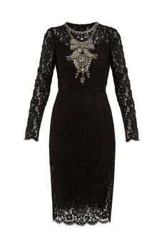 Dolce & Gabbana Crystal-embellished guipure-lace dress