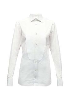 Dolce & Gabbana Crystal-studded cotton-poplin tuxedo shirt