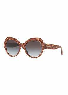 Dolce & Gabbana Damask Printed Acetate Cat-Eye Sunglasses