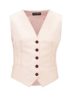 Dolce & Gabbana Darted silk-blend waistcoat