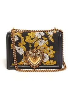Dolce & Gabbana Devotion floral-brocade cross-body bag