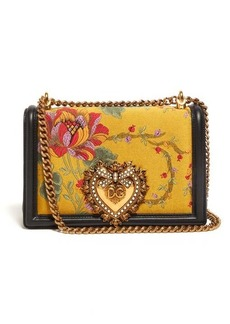 Dolce & Gabbana Devotion floral-jacquard cross-body bag