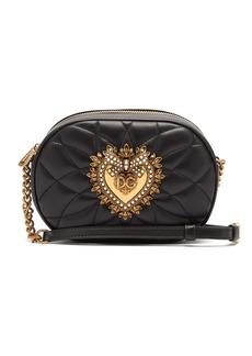 Dolce & Gabbana Devotion heart-embellished quilted-leather bag
