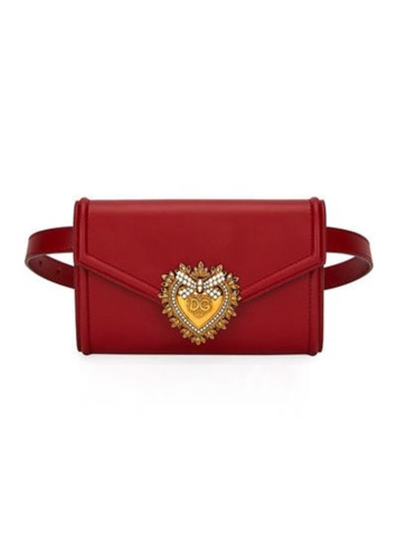 Dolce & Gabbana Devotion Leather Belt Bag