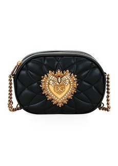 Dolce & Gabbana Devotion Leather Camera Bag with Heart Medallion