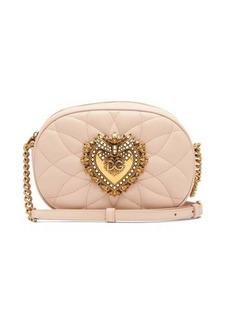 Dolce & Gabbana Devotion matelassé-leather cross-body bag