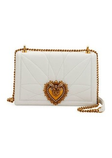 Dolce & Gabbana Devotion Medium Quilted Crossbody Bag