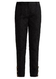 Dolce & Gabbana DG-button jacquard trousers