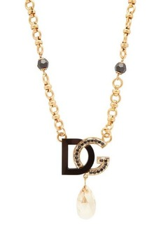 Dolce & Gabbana DG-charm & crystal-drop necklace