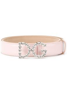 Dolce & Gabbana DG Crystal Logo Buckle belt