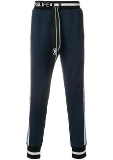 Dolce & Gabbana DG Hashtags panel track pants - Blue