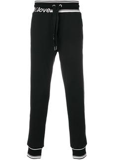 Dolce & Gabbana #DGLove track pants - Black