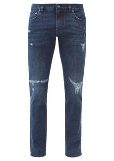Dolce & Gabbana Distressed slim-leg jeans