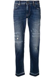 Dolce & Gabbana distressed skinny jeans - Blue