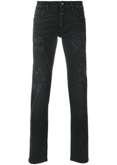Dolce & Gabbana distressed slim-fit jeans - Black
