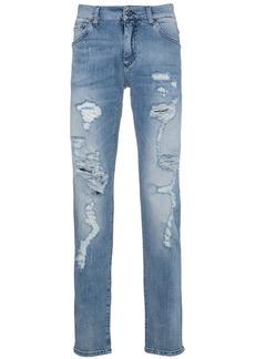 Dolce & Gabbana distressed slim fit jeans - Blue