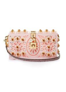 Dolce & Gabbana Dolce Box embellished plexiglass clutch