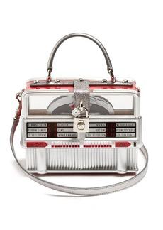 Dolce & Gabbana Dolce Box leather-trimmed jukebox bag